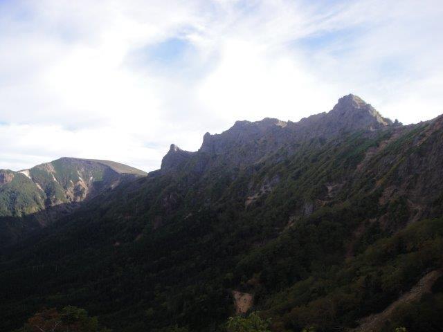 文三郎尾根から北方面