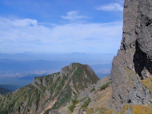 最後の岩場 八ヶ岳