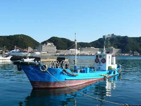 勝浦の漁船