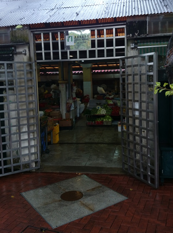 マカオコロアン村の市場