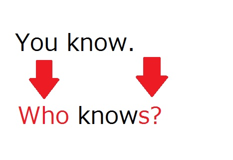 whoやwhatを主語にして肯定文の順番で?をつける文