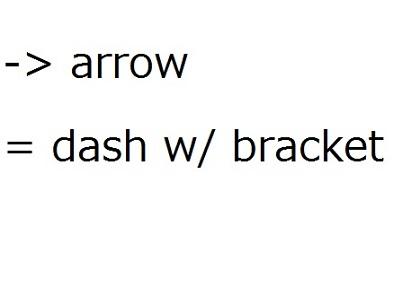 英語の句読点で矢の作り方