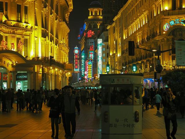 上海の繁華街南京東路
