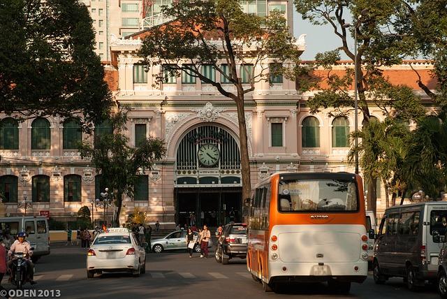 ベトナム、ホーチミン市中央郵便局