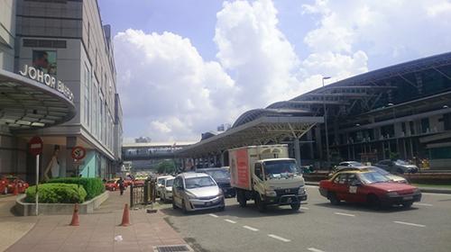ジョホールバルのマレーシア側国境