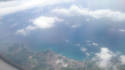 セブ島を上空から見た景色