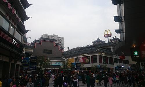 シンセン東門老街でマクドナルドとKFC