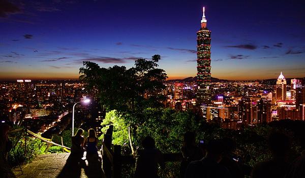 台北101タワーの夜景