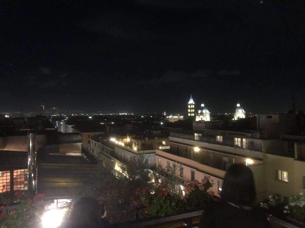 ローマのホテルからの夜景