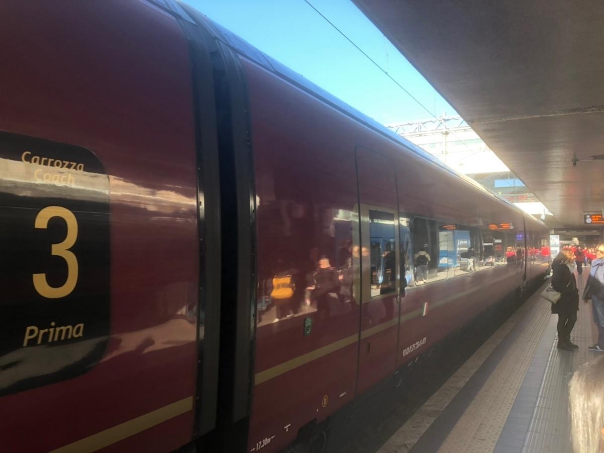 イタリアの電車イタロの写真