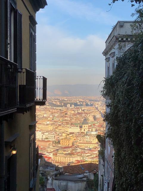 ナポリの街を見下ろす道