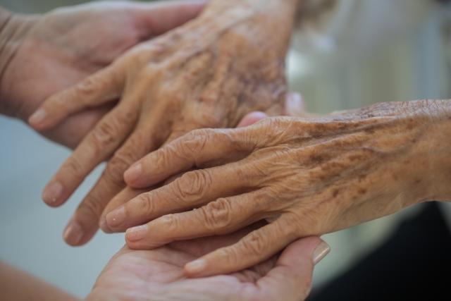 老婆の手の画像