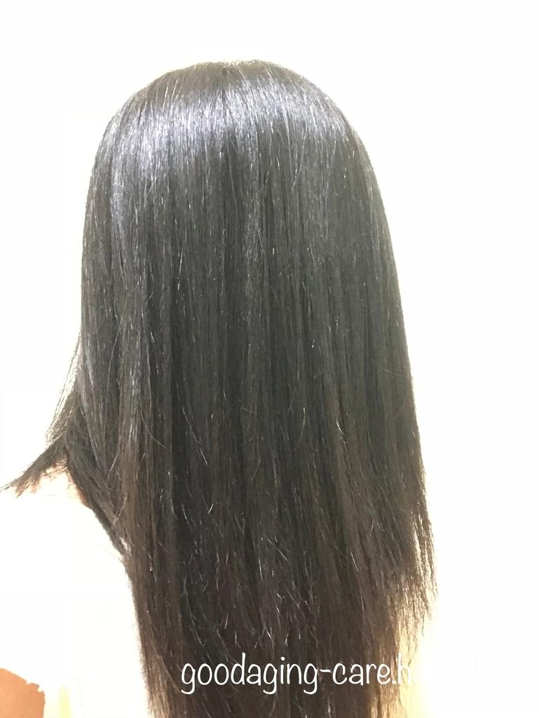 洗い立ての髪の画像