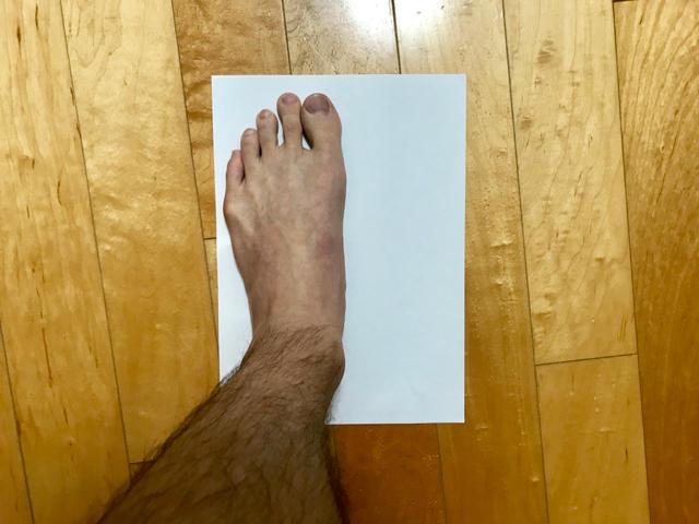 足型を取る