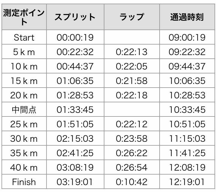 さが桜マラソン2019|タイムリスト