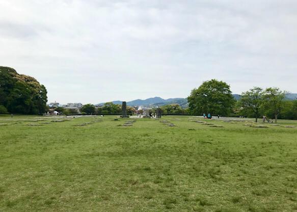 大宰府政庁跡の景色