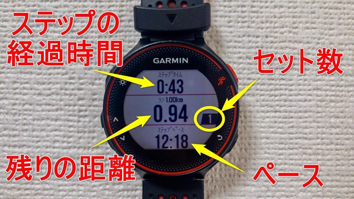 インターバル中の時計表示