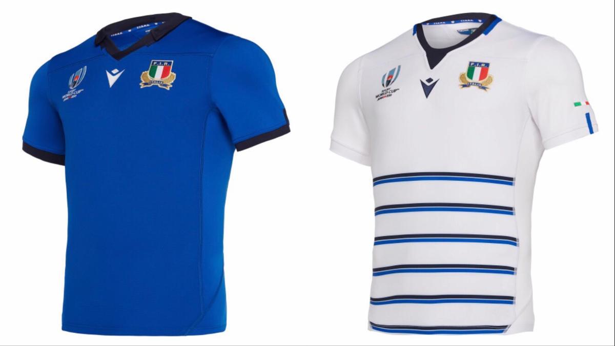 イタリア代表のホームジャージとアウェイジャージ