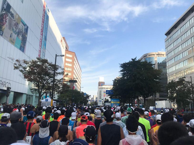 福岡マラソン2019のスタート前