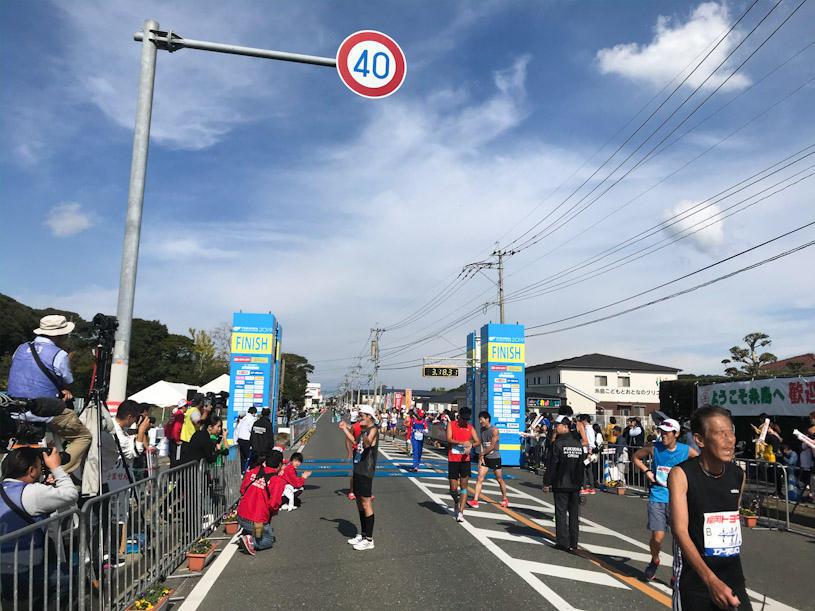 福岡マラソンのゴール地点