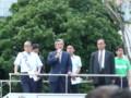 応援演説をする中曽根弘文外務大臣  葛西駅で