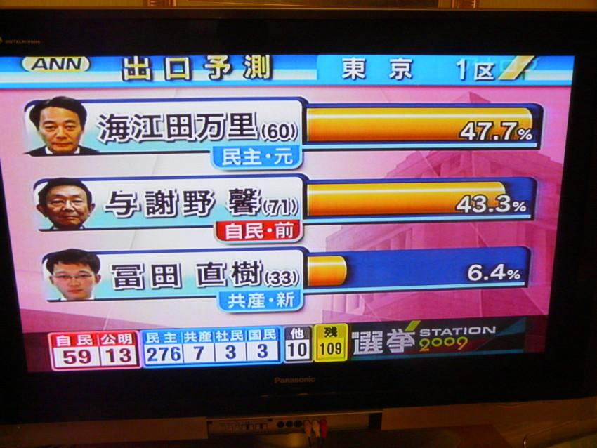 個別「選挙ステーション 東京1区 出口調査」の写真、画像 - googleyahoomsn's fotolife