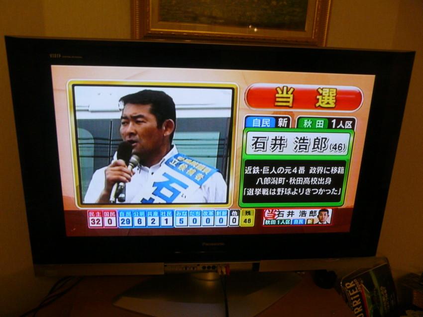 石井浩朗 当選確実 8時2分