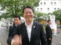 [笑顔の候補者]笑顔でブレる海江田万里民主党代表
