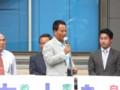 篠崎駅前で甘利明経済財政担当相 街頭演説