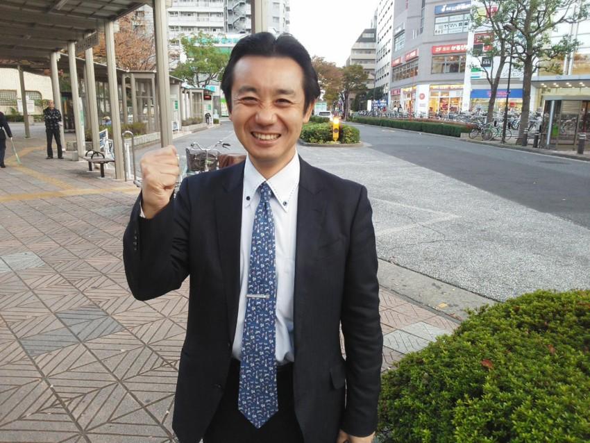 笑顔の候補者 初鹿明博