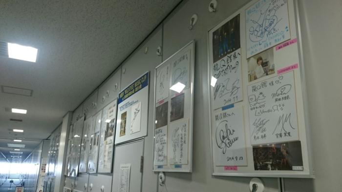 廊下のサイン