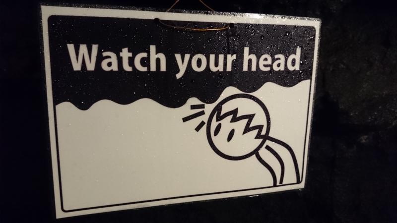 天井低い所があるので頭上注意