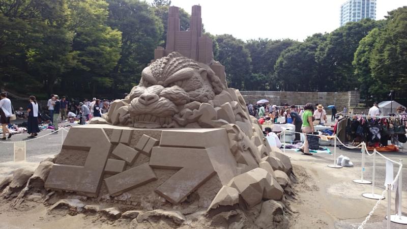 砂像ゴジラ