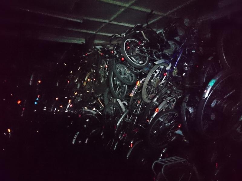 そこには沢山の自転車が積まれていた