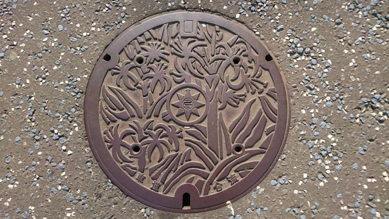 神奈川県横須賀市のマンホール(ハマユウ)