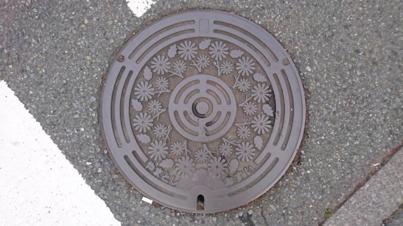 神奈川県大和市のマンホール(ノギク)