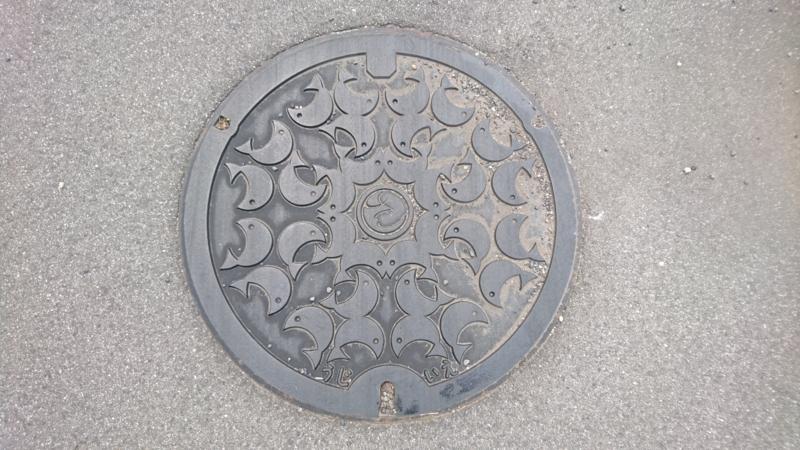 栃木県さくら市のマンホール(あゆ)