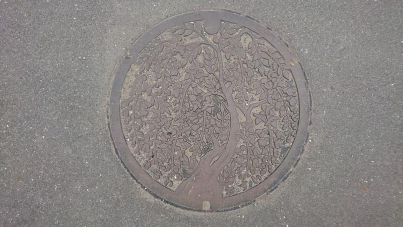 埼玉県加須市のマンホール(フジ)