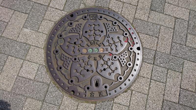 東京都23区のマンホール(ソメイヨシノ、イチョウ、ユリカモメ)