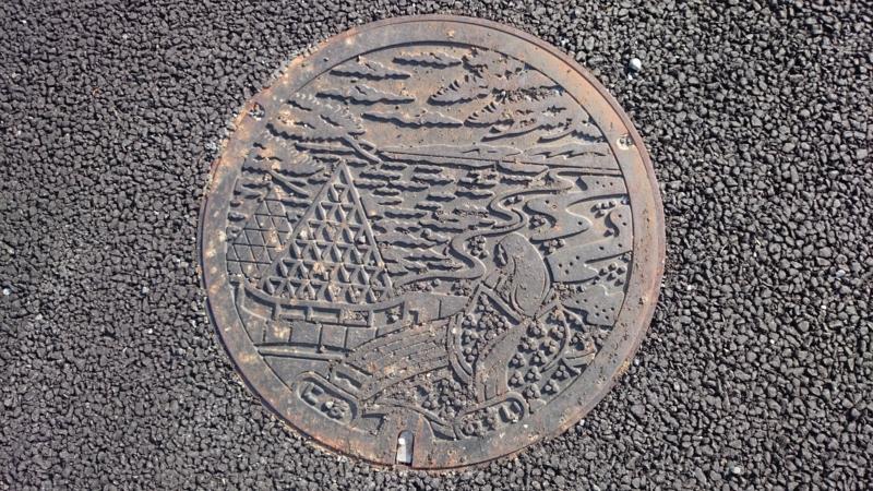 島根県大田市のマンホール(仁摩サンドミュージアム、琴ヶ浜、琴姫)