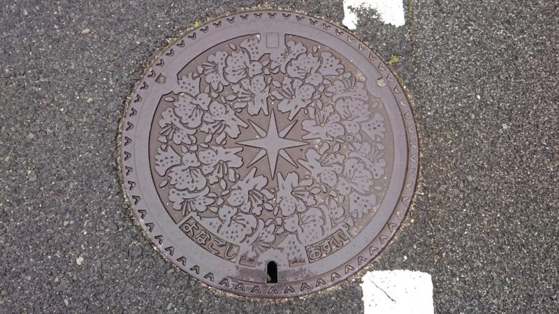 鳥取県米子市のマンホール(ツツジ)