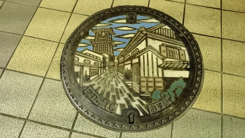 埼玉県川越市のマンホール(時の鐘)