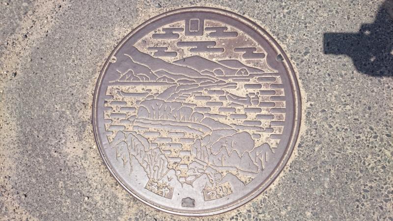 京都府宮津市のマンホール(天橋立)