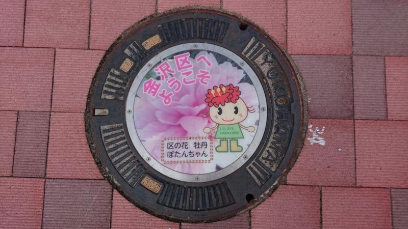 神奈川県横浜市のマンホール(ぼたんちゃん)