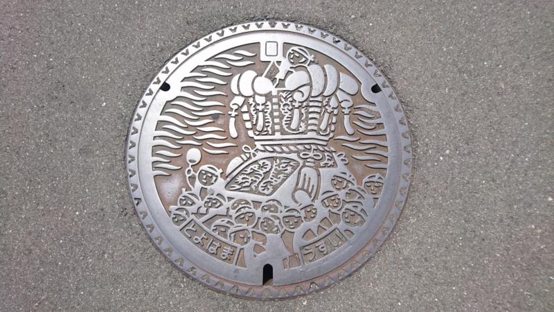 香川県観音寺市のマンホール(ちょうさ祭り)