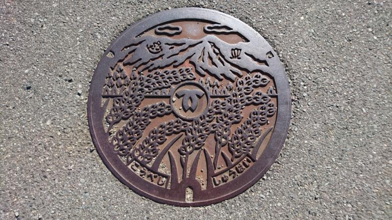 兵庫県神戸市のマンホール(六甲山、稲穂)