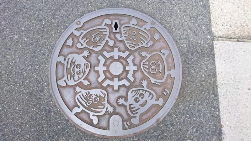 三重県桑名市のマンホール(ハマグリ)