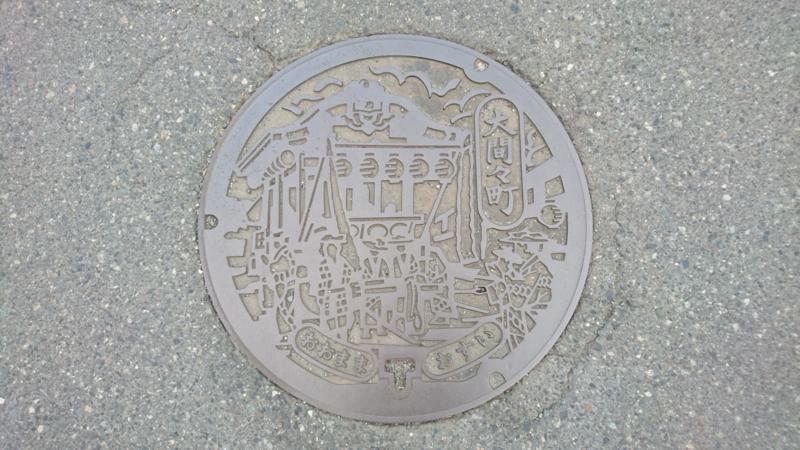 群馬県みどり市のマンホール(旧大間々町、大間々祇園まつりの神輿)