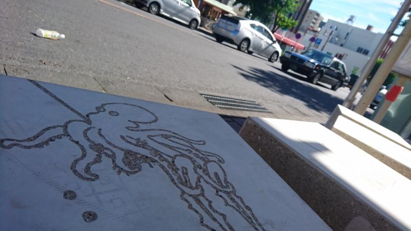「グラフィックコンクリート」によるタコの絵