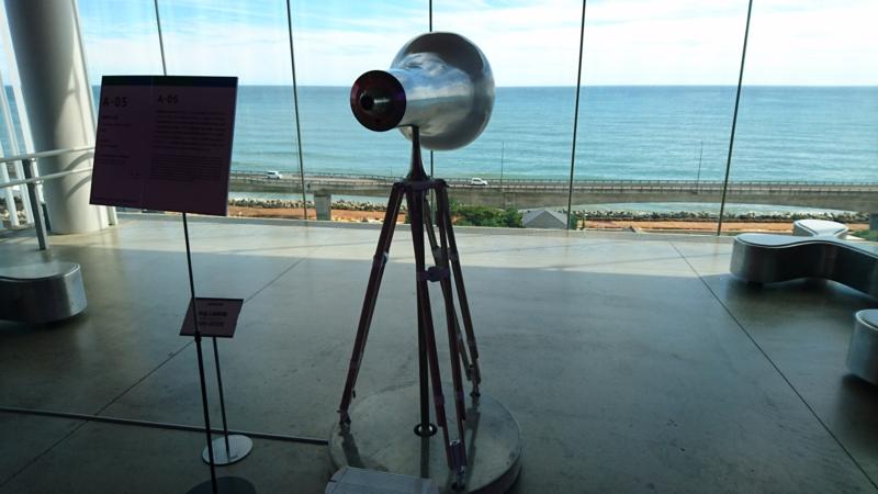 望遠鏡のような風景幻灯機